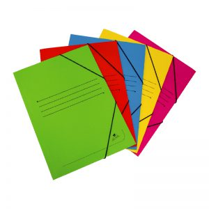 Folders with flaps and elastic straps